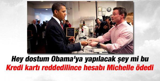 Obama: Kredi kartım reddedilince hesabı eşim ödedi