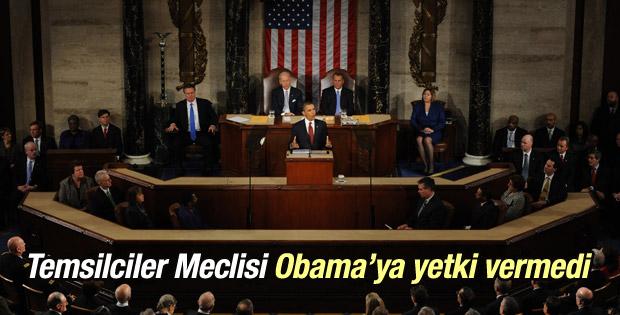 ABD Temsilciler Meclisi Obama'ya yetki vermedi