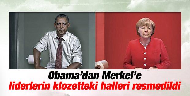Dünya liderleri klozette otururken resmedildi