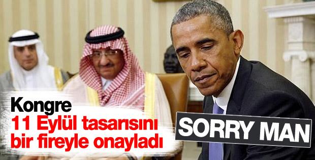Obama'nın veto ettiği 11 Eylül tasarısı Senatodan geçti