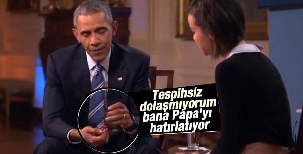 Obama Papa'nın tespihini yanından ayırmıyor