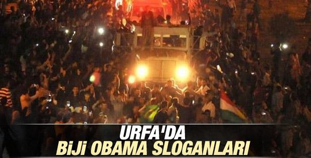 Şanlıurfa'da peşmergeye Kürtçe Obama sloganı