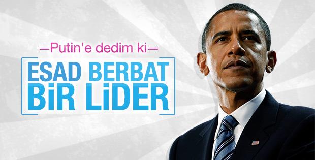 Obama: Esad berbat bir lider
