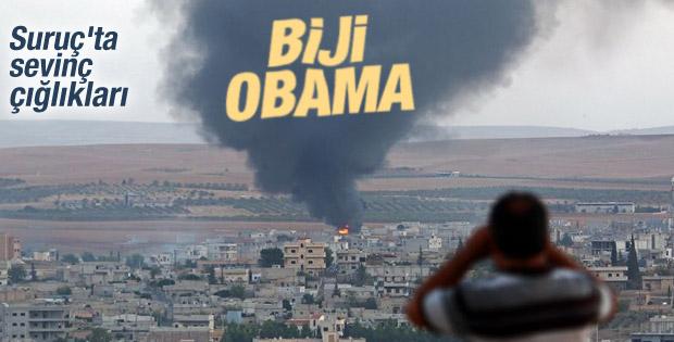 Suriye sınırında Biji Obama sloganları atıldı