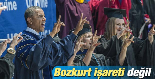 Obama'dan Bozkurt'u andıran karıncayiyen selamı