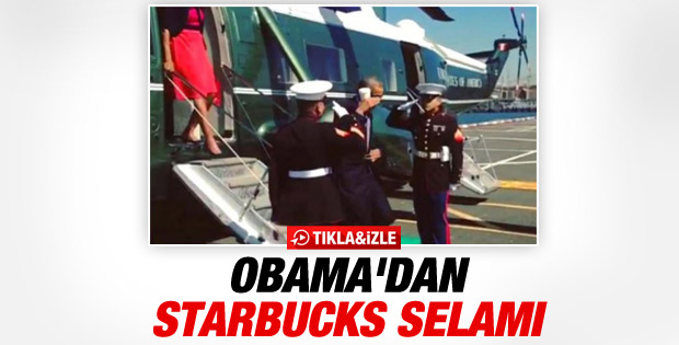 Obama askerleri kahve ile selamladı İZLE