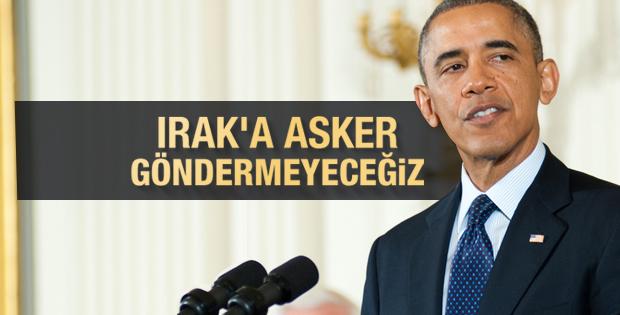 Obama: ABD kendini bir askeri eylem içine sokmayacak