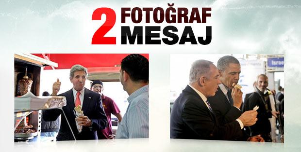 Kerry Ramallah'ta döner ve baklava yedi tartışması