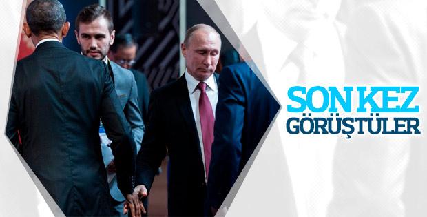Obama ve Putin ayaküstü buluştu