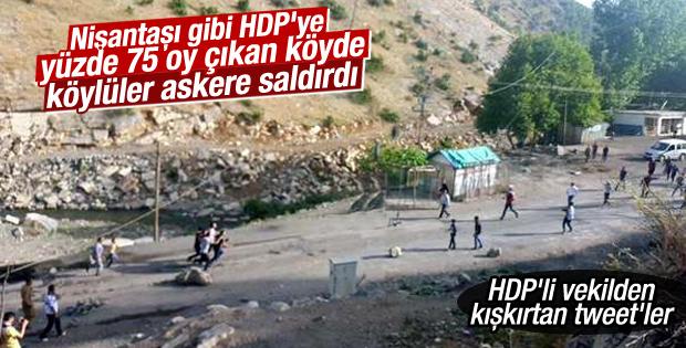 Uludere'de köylüler askere saldırdı