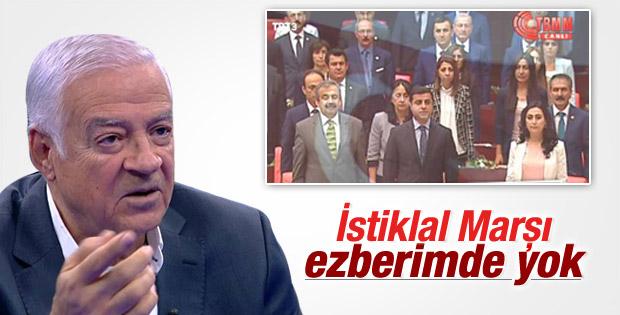 İstiklal Marşı'nı okumayan HDP'li: Ezberimde yok