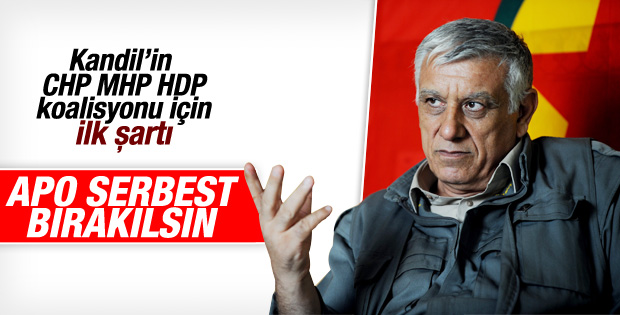 Seçim sonrası PKK'dan Öcalan serbest bırakılsın talebi