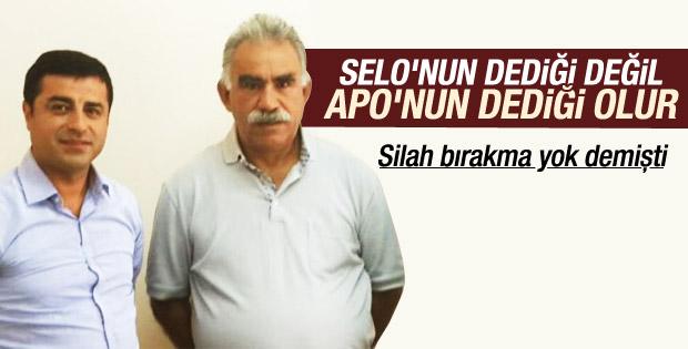 Demirtaş PKK silah bırakmaz demişti