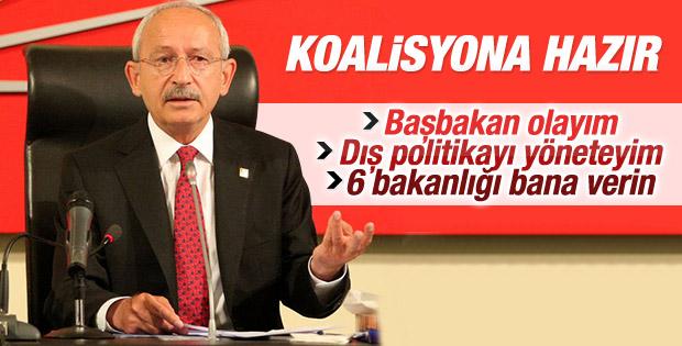 Kemal Kılıçdaroğlu'nun 14 maddelik şartı hazır