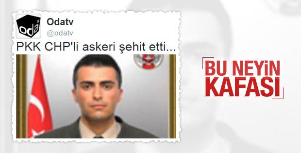 CHP'nin sitesi Oda TV'den skandal şehit haberi