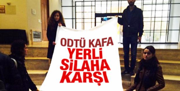 ODTÜ öğrencileri yerli üretimi protesto etti