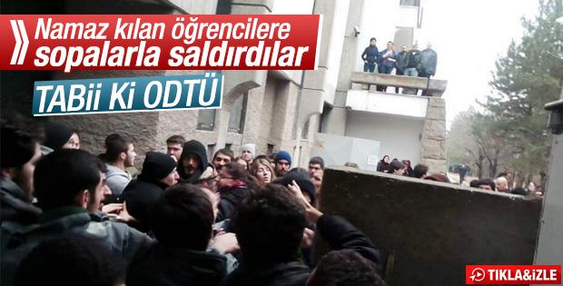 ODTÜ'de mescide giden öğrencilere saldırı
