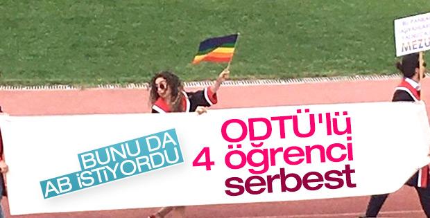 Başkan'a hakaret pankartı taşıyan ODTÜ'lüler serbest