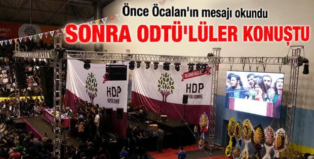 HDP kongresinde ODTÜ eylemcileri konuştu