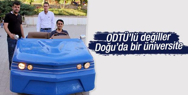 Elazığ'da 7 öğrenci elektrikli otomobil üretti
