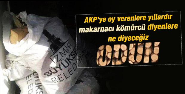 İzmir Büyükşehir Belediyesi odun dağıtıyor