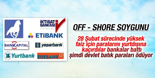 Off-shore borçlarını halk ödüyor