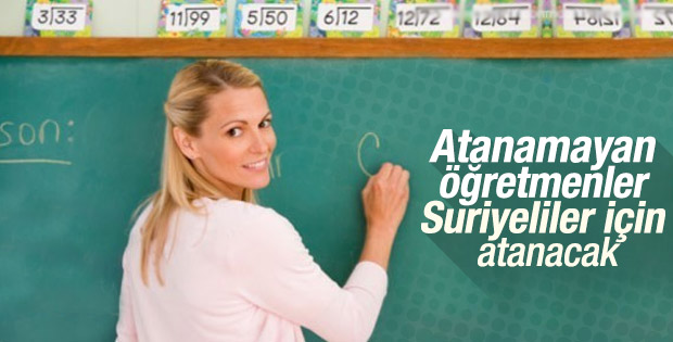 Atanamayan öğretmenler Suriyelileri eğitecek