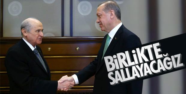 Erdoğan'dan Bahçeli'ye ittifak teşekkürü