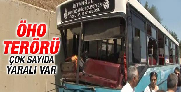 Ümraniye'de halk otobüsü kaza yaptı İZLE