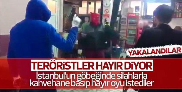 Okmeydanı'nda teröristler kahvehane bastı
