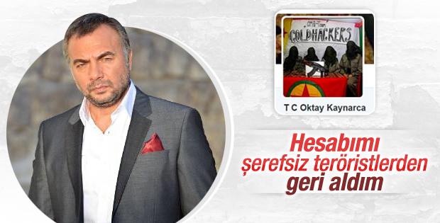 Oktay Kaynarca PKK'lıların hacklediği hesabını geri aldı