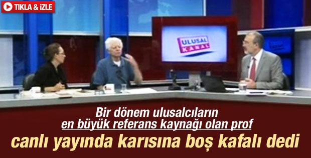 Oktay Sinanoğlu canlı yayında karısını azarladı İZLE
