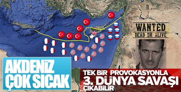 Akdeniz'de gerilim yükseldi