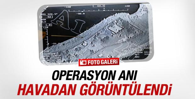 Şah Fırat Operasyonu havadan görüntülendi