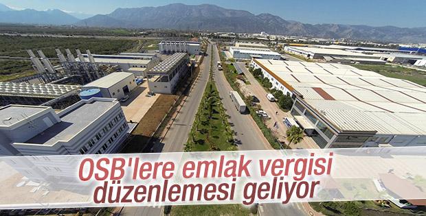 OSB'lere emlak vergisi düzenlemesi geliyor