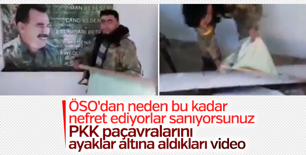 ÖSO mensubu Öcalan'ın posterini yaktı