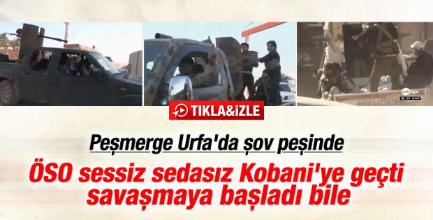 ÖSO Peşmergeden önce Kobani'ye ulaştı İZLE