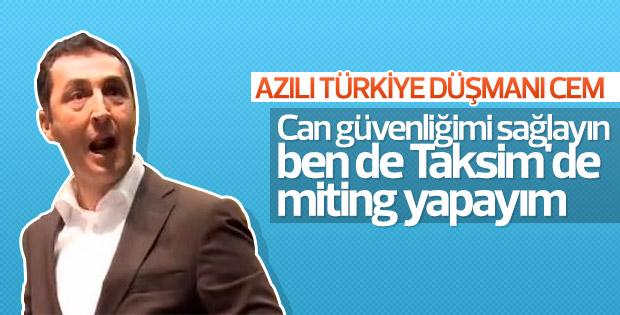 Cem Özdemir: Taksim'de miting yapalım