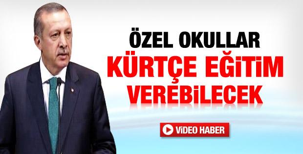 Özel okullar Kürtçe eğitim verebilecek - izle