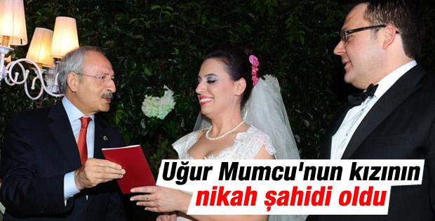 Kılıçdaroğlu Uğur Mumcu'nun kızının nikah şahidi oldu