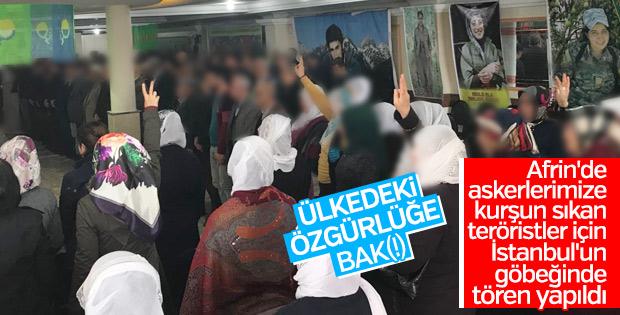 Terör yandaşları İstanbul'da YPG'li teröristleri andı