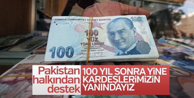 Pakistanlılar Türkiye'ye destek için Türk lirası alıyor