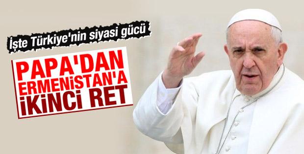 Papa Franciscus'tan Ermenistan'a Türkiye resti
