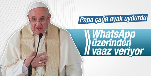 Papa WhatsApp üzerinden vaaz vermeye başladı