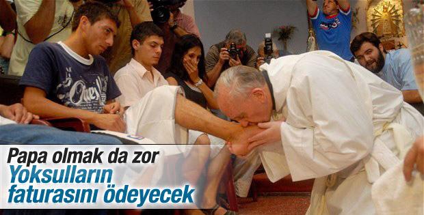 Papa Francesco'dan faturasını ödeyemeyenlere yardım