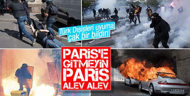 Paris sokakları savaş alanına döndü: 124 gözaltı