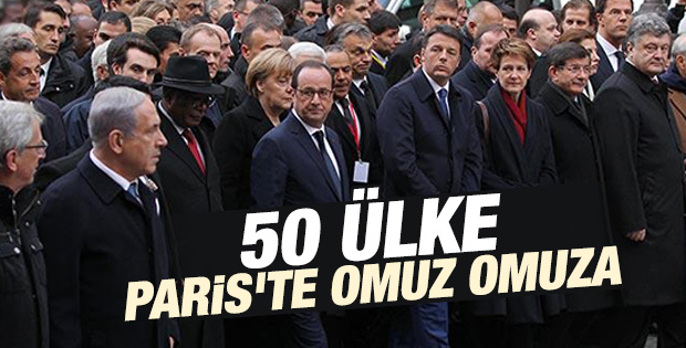Dünya liderleri teröre karşı Paris'te İZLE