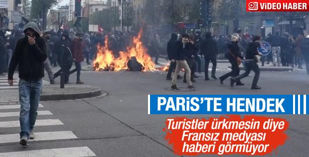 Fransa'da eylemciler polisle çatıştı