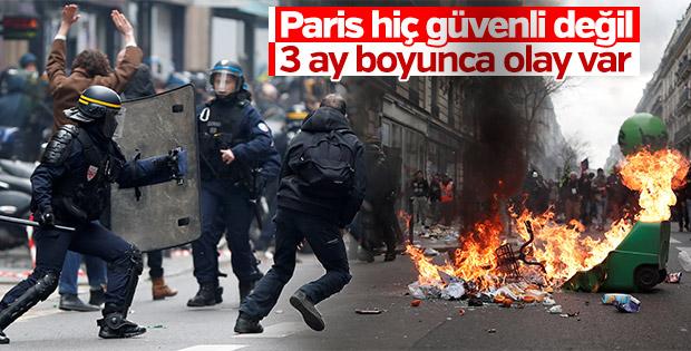 Grevin ilk gününde Fransa karıştı
