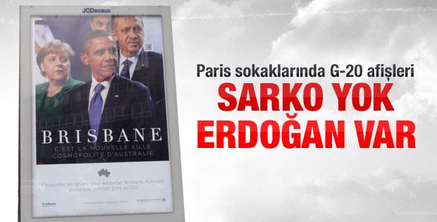 Paris'te Sarkozy yerine Erdoğan
